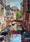 Venice Bridge, oil, 25x18 (63x45 cm)
